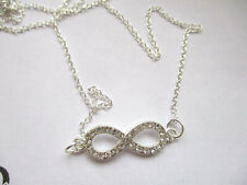 CRYSTAL INFINITY FRIENDSHIP LOVE PENDANT NECKLACE 28MM