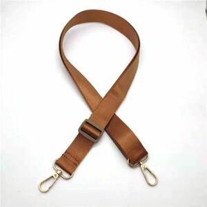 Women Solid Color Nylon Shoulder Bag Handbag Strap Messenger Belt Replacement