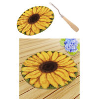 2x Sunflower Pattern Latch Hook Rug Making Kit Tool DIY Rug Carpet Ornaments