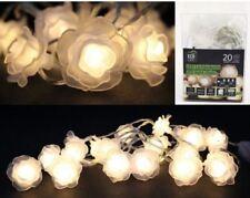 Deko Lichterkette 20 LEDs WEISSE ROSEN batteriebetrieben indoor         95018736