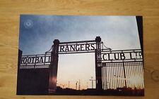 Rangers FC - Ibrox Gates - Wall Canvas 63x40cm