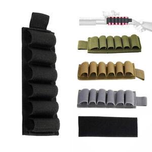 6 Round Buttstock Holder Shotgun Cartridge Ammo Carrier Side Saddle for 12/20GA