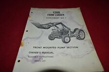 Ford Tractor 1200 Farm Loader Front Pump Operator's Manual YABE11