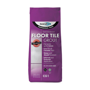 Bond It Cement Based Ceramic Floor Tile Grout Grey 3Kg for Gaps up to 12mm CG1