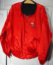 PIONEER HOTEL Casino REVERSIBLE RED SATIN & BLACK CORDUROY Jacket LAUGHLIN, NV.