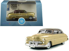 1949 Mercury Coupe Gold with Dark Brown Top 1/87 (HO) Scale Diecast Model Car by