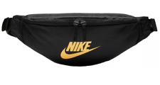 Nike Adjustable Heritage Hip Pack Waist Fanny Bag Black Metallic Gold Men Womens