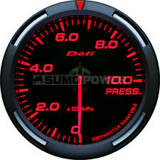Defi Racer Car Oil Pressure Gauge - Red - Stepper Motor - 52mm -DF06605