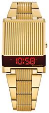 Bulova 97C110 Computron Gold-Tone Stainless Steel Digital Retro Look Watch