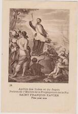 IMAGE PIEUSE HOLY CARD SANTINI/APOTRE DES INDES ET DU JAPON/ST FRANCOIS-XAVIER