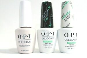 OPI Nail Gelcolor Combo - ProHealth Base,Top + Malibu Colors of your choice