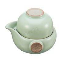 Ru Kiln Ceramic Kung Fu Tea Set  A Teapot And Teacup Included Travel Portable