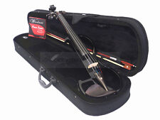 Pro. 4/4 Black Electric Violin Pro. Pickup / Case / Bow /Free String Set