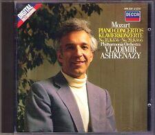 Vladimir Ashkenazy: Mozart Piano Concerto No. 18 20 Decca 1986 cd pianoforte concerti