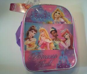 "Disney Girl's Mini Backpack 'Princess Ball' Pink/Purple 10"""