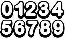 10 X Pegatina de número' , su elección, PIC & Mezcla, cualquier números, Pegatina de Coche Número de Casa