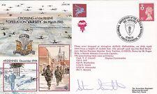 Rare JS(AC96dD Operation Plunder Special Signed Member of Red Devil  Parachutist