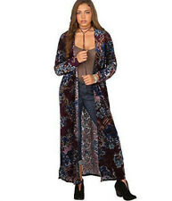 bb36c5b9df WRANGLER Western Floral Velvet Burnout Long Duster Cardigan Jacket S M L  XXL XL