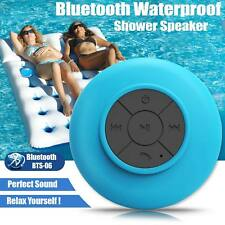 Wireless Bluetooth Mic Speakers Handsfree Waterproof Bathroom Shower Speaker UK