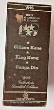 Box-Set Of 3 Movies (1984 VHS Black & White) Citizen Kane King Kong Gunga Din