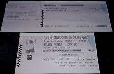 MYLENE FARMER BILLET DE CONCERT + TICKET PAIEMENT TOUR 96 BERCY 31 MAI 1996