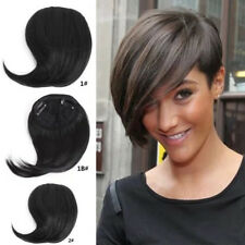 New Lady Clip On In Side Hair Bang Fringe Hair Extensions Human Style Straight