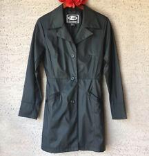 93d216c5ba Womens Evolution Not Revolution Medium Black Raincoat Polyurethane Button  Front