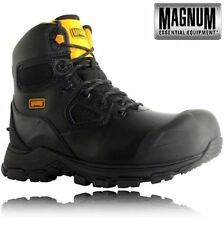 Magnum Men's Lace Up Work 100% Leather Boots