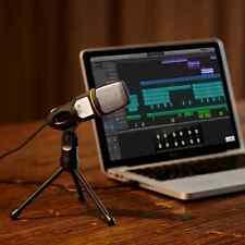 Professional USB Condenser Sound Podcast Studio Microphone PC Laptop Kit Mic New