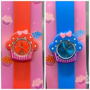 Slap CUPCAKE Watch Children Watch - BLUE/RED New & Boxed FREE SHIPPING