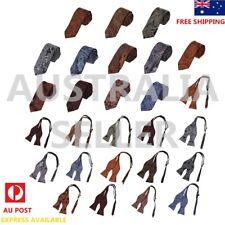 Men's Pattern Microfiber Skinny Tie Self-tie Bowtie Available By Epoint EAE/BA01