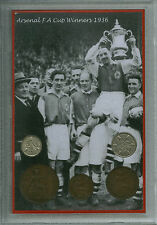 Arsenal FC (The Gunners Gooners) Vintage FA Cup Final Winners Coin Gift Set 1936