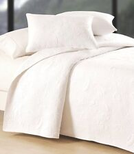 BRIGHT WHITE SHELL Full / Queen QUILT SET : BEACH HOUSE SHELLS COTTON MATELASSE
