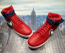 Nike Air Force 1 High 07 LV8 Chenille Gym Red/Blue Void Mens Size 15 806403 603