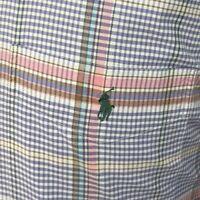 Ralph Lauren Mens Button Down Shirt Blaire Easter Plaid Print Purple Sz Medium