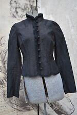 Elie Tahari Black Brown Victorian Baroque Jacket Size S