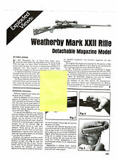 WEATHERBY MARK XXII RIFLE WITH EXPLODED VIEW PARTS LIST DISASSEMBLY INST AD 1993