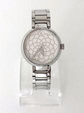 Esprit Damen Uhr silber weiß Edelstahl Motiv Blume ES109032001