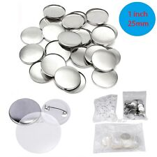 1000 Sets 1'' Inch 25mm DIY Badge Pin Back Button Parts for Pro Maker Machine