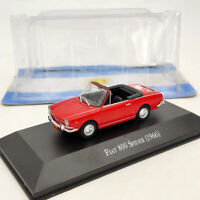 IXO 1:43 Fiat 800 Spider 1966 Red Diecast Models Limited Edition Collection