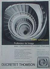 PUBLICITE DUCRETET THOMSON TELEVISEUR L'ORTHOVISION T 5014 DE 1960 FRENCH AD PUB
