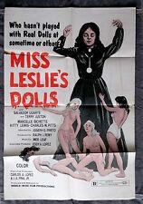Miss Leslie's Dolls Movie Poster HORROR Joseph P. Mawra DRAG QUEEN Juston  1973