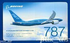 BOEING 787 DREAMLINER FIRST FLIGHT DEC 15, 2009 STICKER