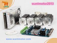 UE free! 4axis nema 23 270oz-in single Shaft Driver Board cnc kit 57 bygh 627