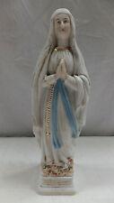 antike Figur aus Porzellan Lourdes Madonna um 1900