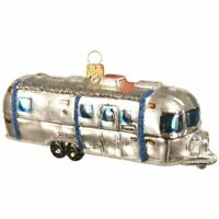 The Whitehurst Company Airstream US Trailer Ornament - Glass Blown Holiday Decor