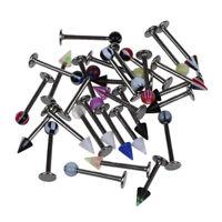 30/Set Lippenpiercing Lippe Piercing Labret Multifarbe Y4J4) J1
