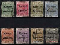 P130418/ BRITISH MOROCCO / SG # 9 / 16 USED FULL SET CV 195 $