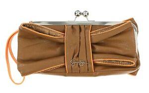 Jessica Simpson Jenny Bow Sunburst/Safari Clutch Wristlet Bag 141052