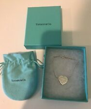 TIFFANY & Co. STERLING SILVER BRACELET PLEASE RETURN TO. HEART Initials On Back